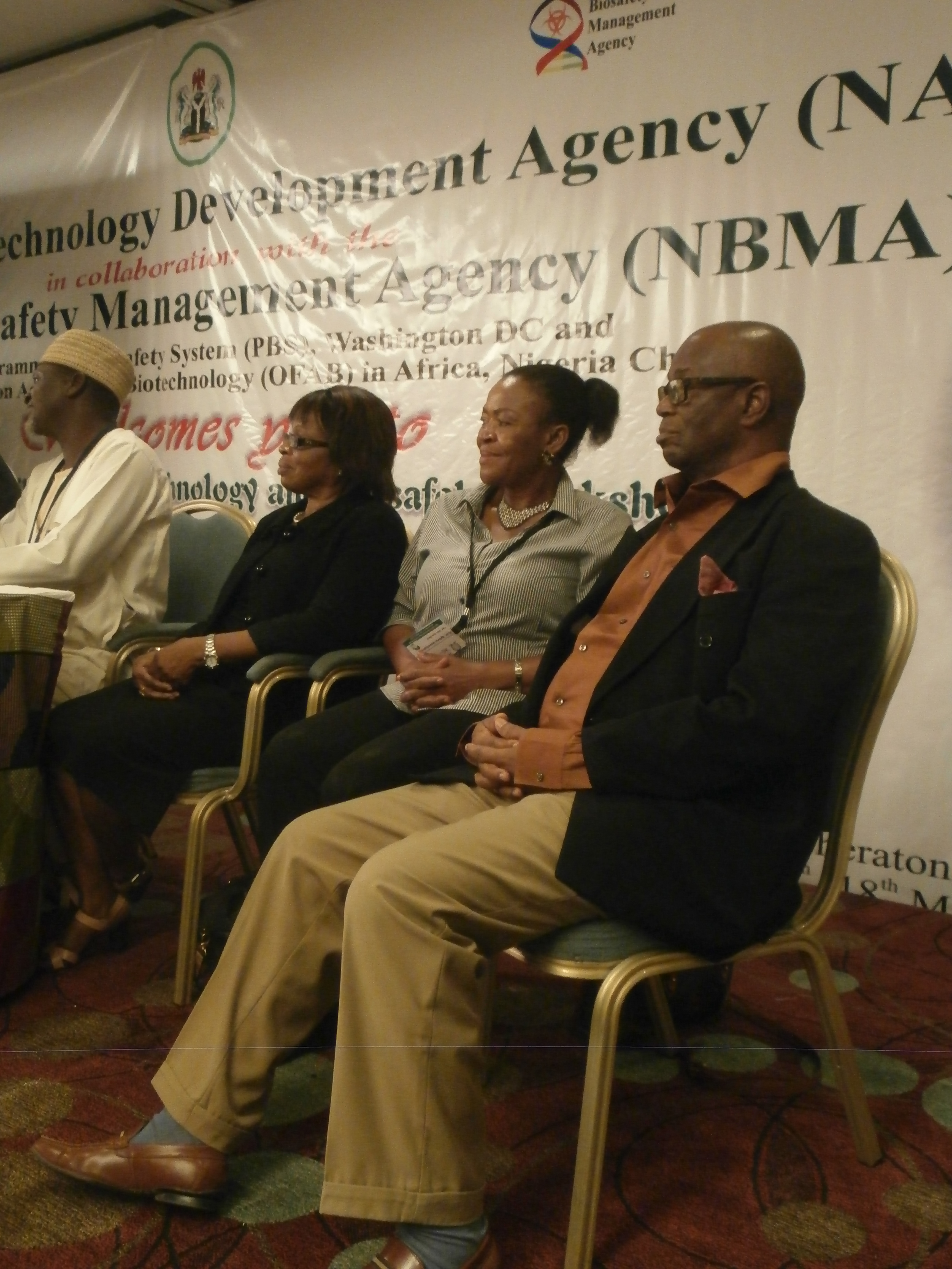 Former DG/CEO NBMA, first from (R) with other speakers.