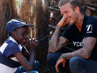 David Beckham meets children in Swaziland affected by drought