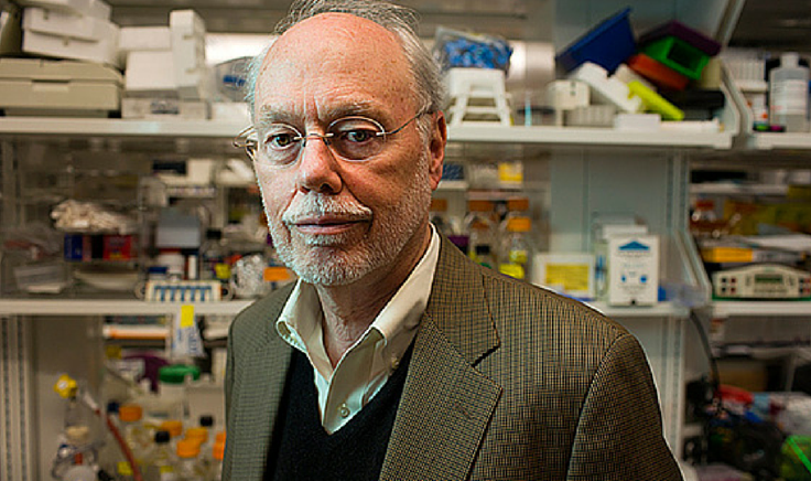 "The Nobel Laureate letter campaign was organized by Richard Roberts and Phillip Sharp (pictured above), winners of The Nobel Prize in Physiology or Medicine 1993 for their discovery of ""split genes"". Photo: http://news.mit.edu/2013/kendall-square-birthplace-of-biotech-0319 Photo: M. Scott Brauer"