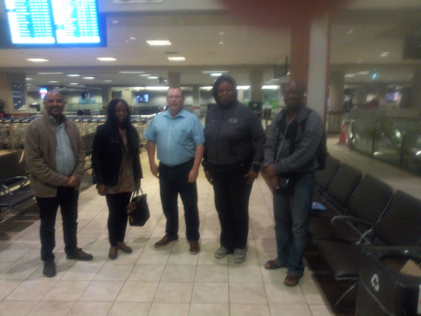 Arrival of some participants at Steinfield airport, Halifax, Canada.